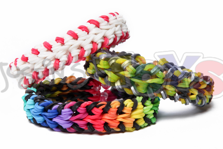 Rainbow Loom - Baseball Stitch Bracelet - Double Over and Under