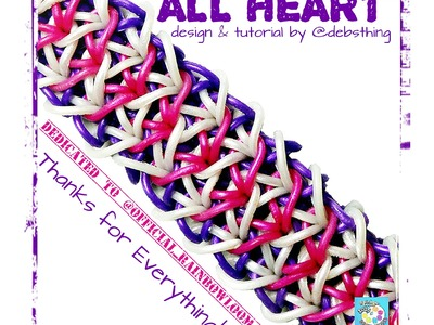 "Rainbow Loom Bracelet ""ALL HEART"" (Original Design) (ref #5aa)"