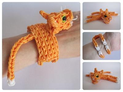 Rainbow Loom cat bracelet Loombicious