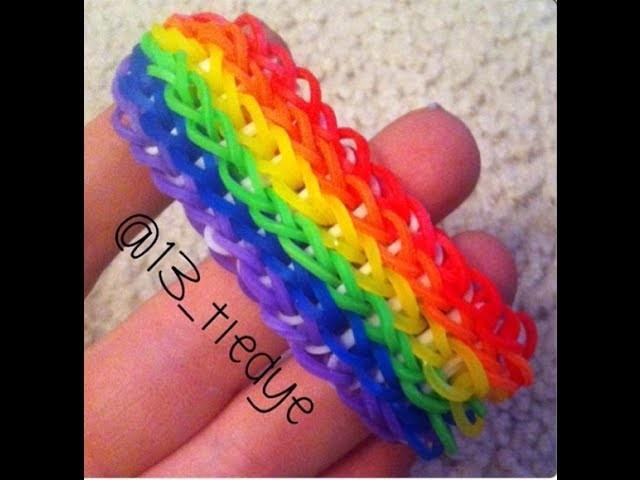 Rainbow Loom Six Single ON ONE LOOM!!!-Tutorial