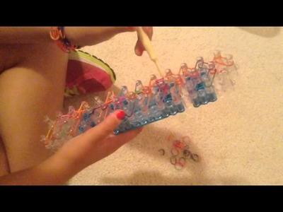 Ring bling rainbow loom bracelet