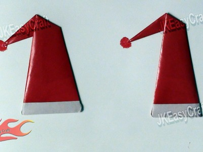 Santa's Cap | Origami For Beginners  #5 | JK Easy Craft 019