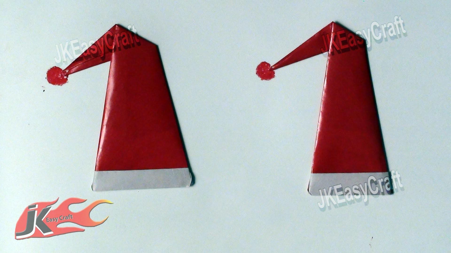 Santa's Cap | Origami For Beginners  #5 | JK Easy Craft 019