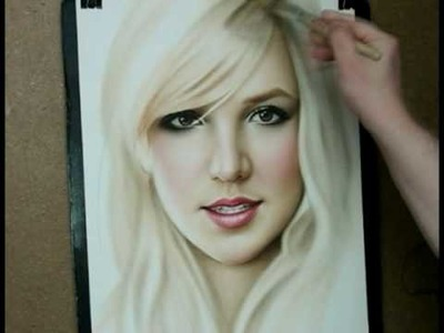 Speed painting portrait Britney Spears