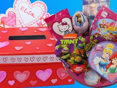 VALENTINE'S DAY Surprise Toys ❤ DIY Valentine Mail Box ❤ Kinder Eggs Blind Bags Frozen Disney Egg