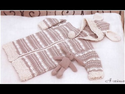 VERY EASY crochet cardigan. sweater. jumper tutorial - baby and child sizes 38