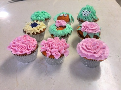 3 More Ways to Decorate Cupcakes - Wilton 104, 352, 233 Tips