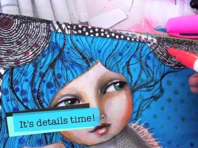 Art Journal by Jane Davenport @ Teesha Moore Workshop!