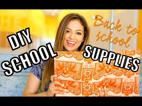 Back To School: 5 Cute + Easy DIY School Supplies + Road Trip Update!