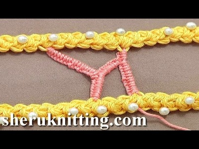 Branched Buttonhole Stitch Bar.Bridge Tutorial 50 Part 8 of 9 Romanian Point Lace