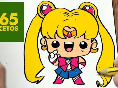 COMO DIBUJAR SAILOR MOON KAWAII PASO A PASO - Dibujos kawaii faciles - How to draw a Sailor Moon