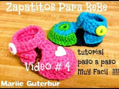 Como Hacer Zapatitos para Bebe: Video # 4