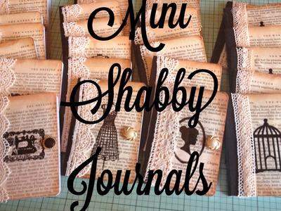 Craft Fair Idea #2:  Mini Shabby Journals! (with tutorial)