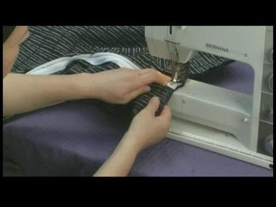 Creating a Couch Slipcover : Sewing Zipper to Bottom Couch Slipcover Panel