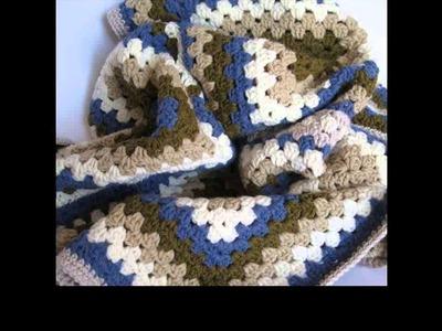 Crochet granny square jacket