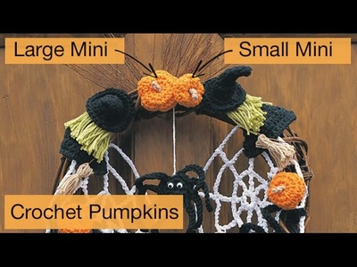 Crochet Large Miniature Pumpkin Tutorial
