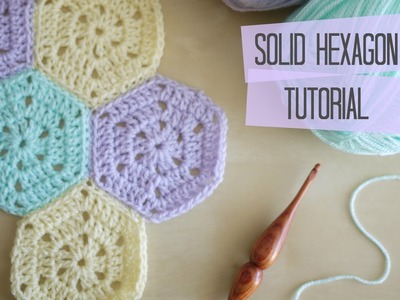 CROCHET: Solid hexagon and joining tutorial | Bella Coco