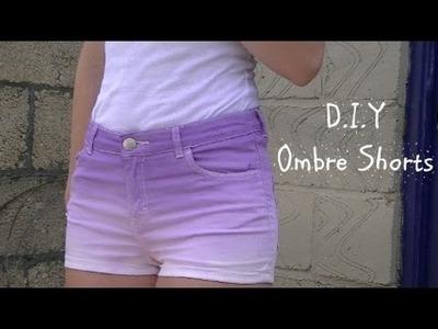 D.I.Y Ombre. Dip Dye shorts