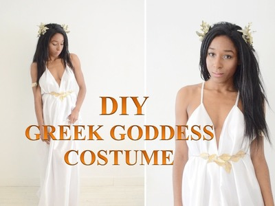DIY COSTUME | GREEK GODDESS TOGA DRESS & HALF CROWN