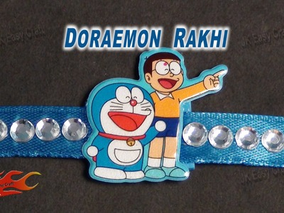 DIY  Doraemon Rakhi  | Raksha Bandhan Craft | How to make | JK Easy Craft 043