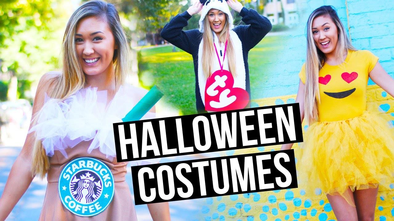 DIY HALLOWEEN COSTUMES FOR TEENS: Emoji, Starbucks + Beanie Baby