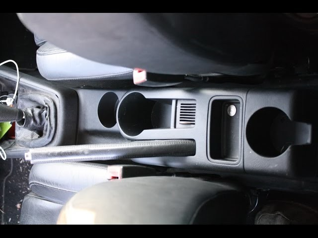 DIY how to remove center console on mk4 volkswagen