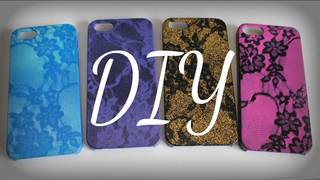DIY Lace Print iPhone Case (Easy)