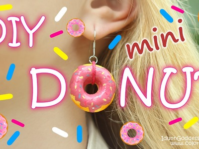 DIY Mini Donuts Jewelry - How To Make Donut Earrings, Bracelet and Pendant Tutorial