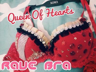 DIY Rave Bra: Queen of Hearts