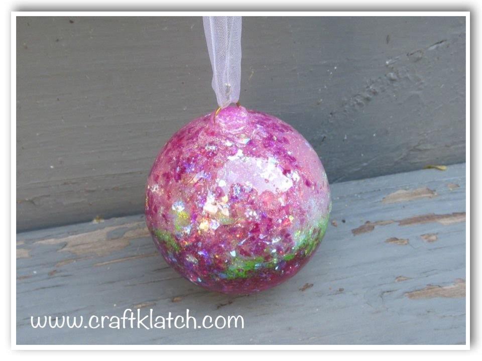 DIY Resin Glitter Ball for Garden or Indoors   Make Something Monday