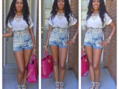 DIY ripped jeans and cut off shorts