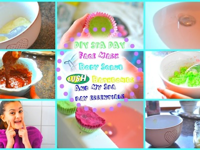 DIY Spa Day | Lush Inspired Bathbombs And More | My Spa Day Essentials