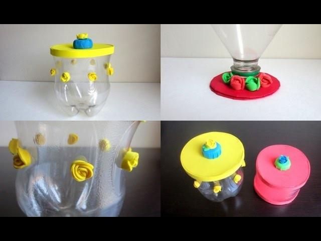 DIY: Storage Jars & Lids  - Recycling Plastic Bottles