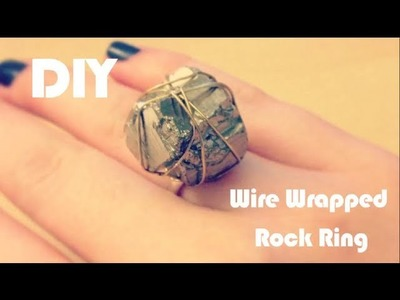 DIY Wire Wrapped Rock Ring