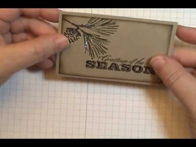 Easy Sponged Frame Stampin' Up! Watercolor Winter Card