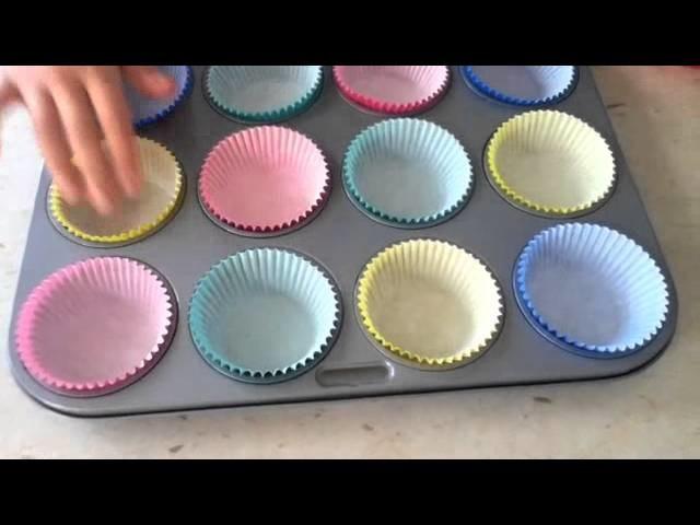 Fatima rainbow cupcakes