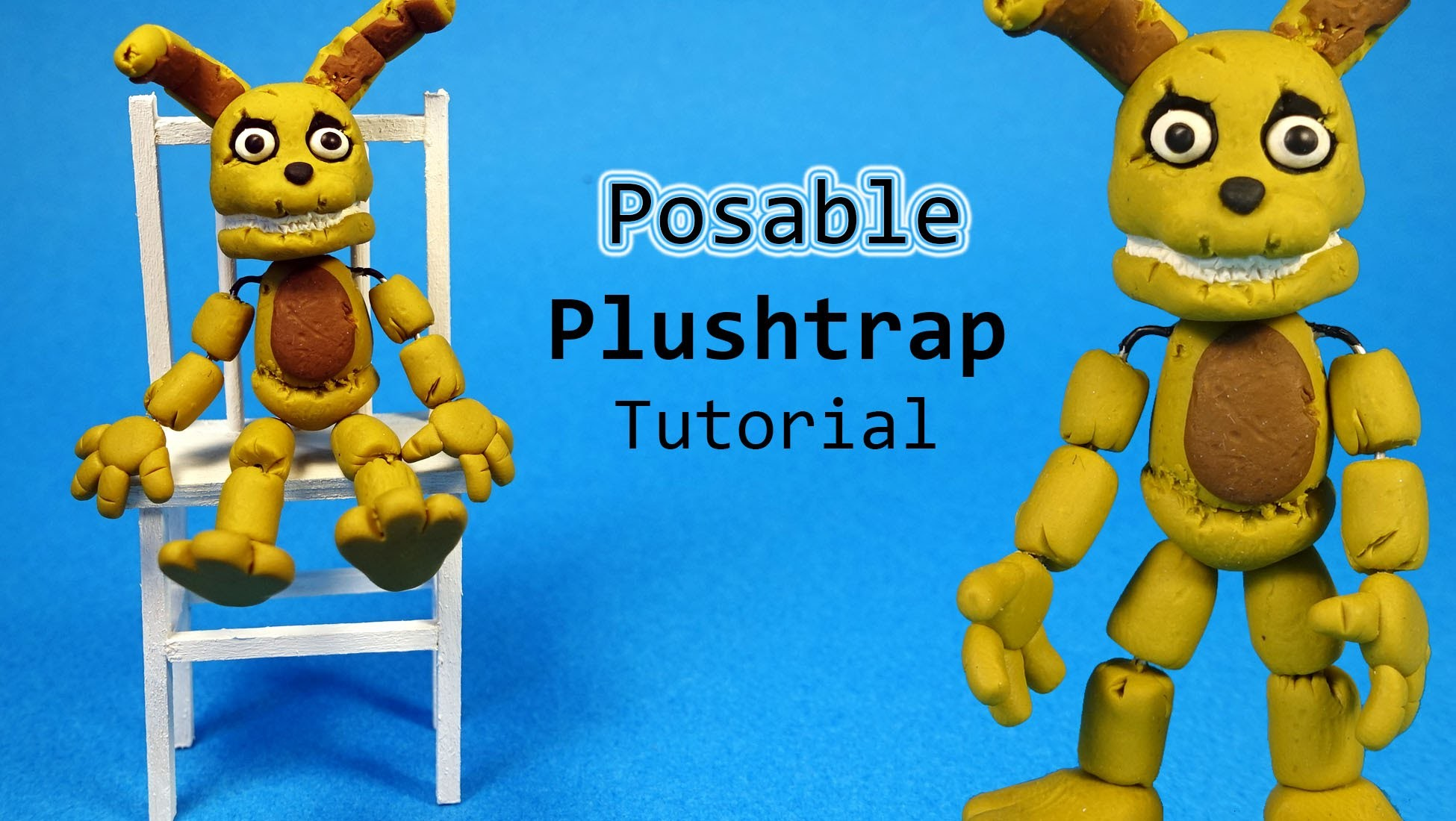 Five Nights At Freddy's 4 Plushtrap Posable Figure Polymer Clay Tutorial