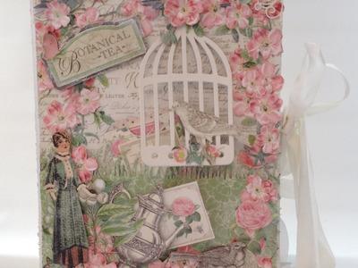 G45 Botanical Tea Envelope Mini Album with Flaps