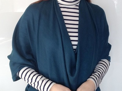 GIANT COWL STYLE from my {Pashmina Refashion Tutorial} DIY 6-Way Convertible Scarf