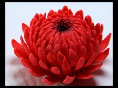 Gumpaste Flowers - How to make Gumpaste chrysanthemum