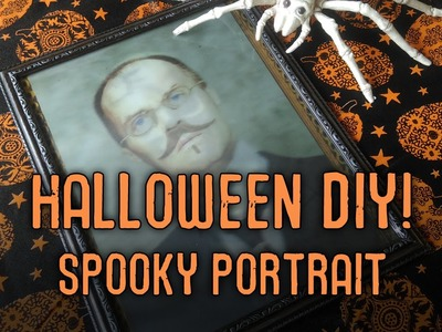 Halloween DIY - Spooky Portrait for only $2!