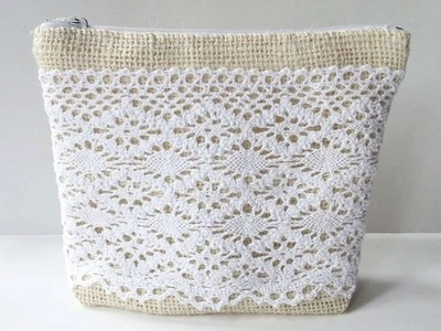 How To Create A Pretty Burlap-Lace Purse - DIY Crafts Tutorial - Guidecentral