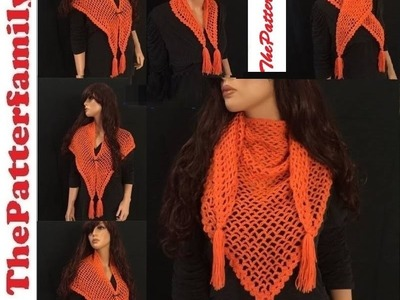 How to Crochet a Shawl Pattern #24│by ThePatterfamily