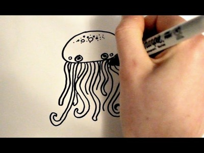 How to Draw a Cartoon Jellyfish v2