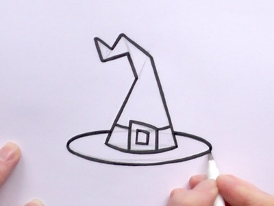 How to Draw a Cartoon Witch's Hat For Halloween