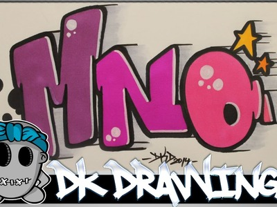 How to draw graffiti - Graffiti Letters MNO step by step
