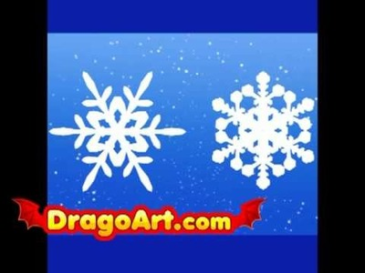 How to draw snowflakes, step by step