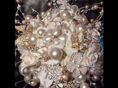 How to make a brooch bouquet with flowers bride and bridemaides bespoke