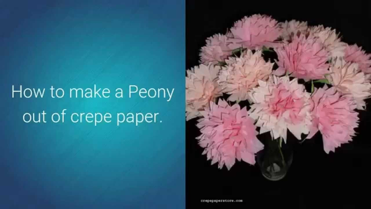 How To Make A Crepe Paper Peony
