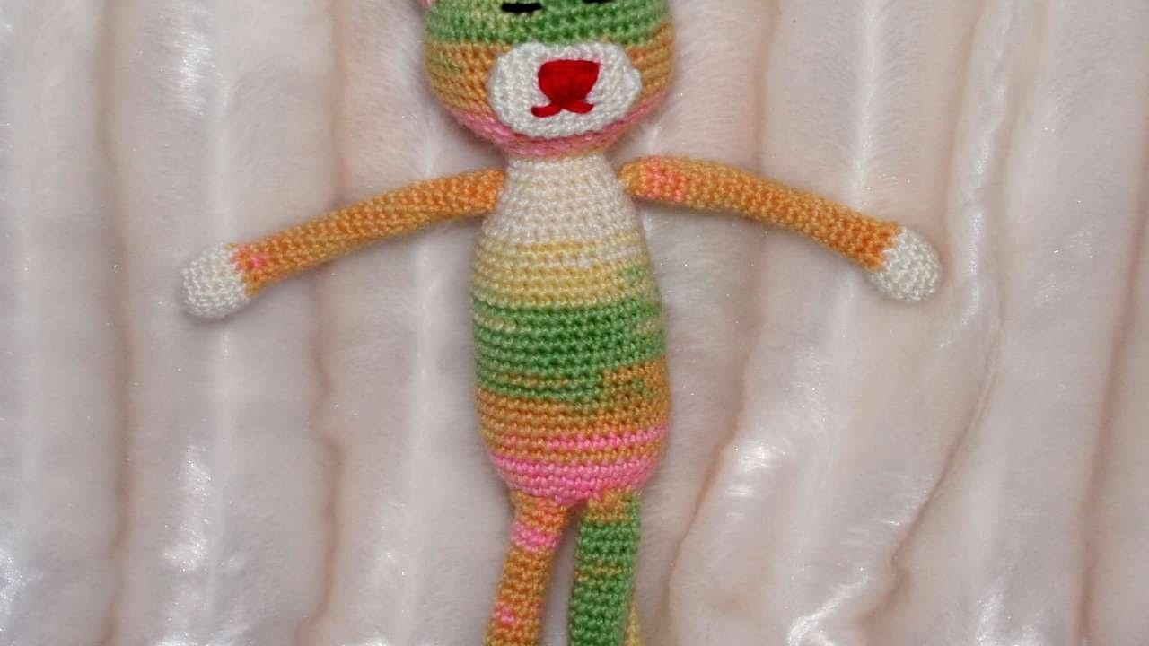 How To Make A Cute Crochet Amineko Cat - DIY Crafts Tutorial - Guidecentral